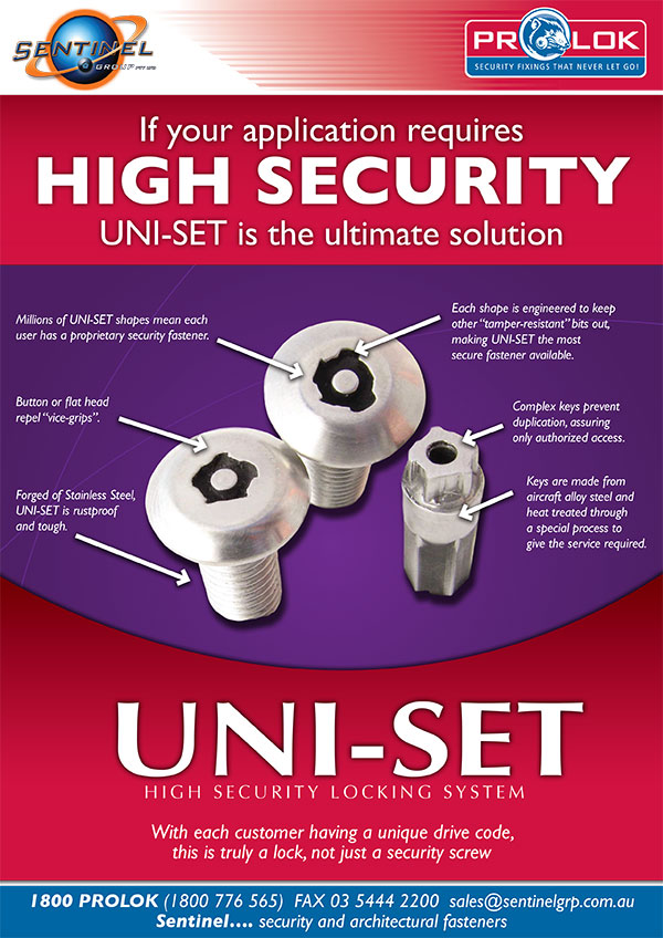 Uni-Set New Product Flyer